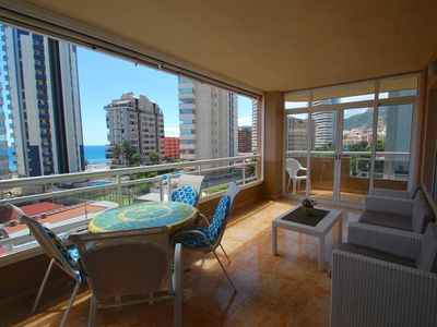 Photo for centrical apartment (near the beach) with sea-view, air-condition, internet