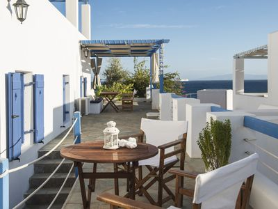 Photo for Aphrodite home with sea view, 50m from Logaras sandy beach