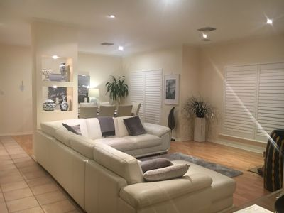 Photo for Easy stay beachside Hove Executive spacious duplex home . Heated outside hot spa
