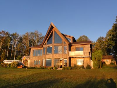 Photo for Waterfront house with private retreat panoramic views of Passamaquoddy Bay