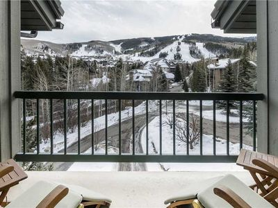 Photo for Soak in the mountain views from this ski-in/ski-out condo w/shared pool & hot tub