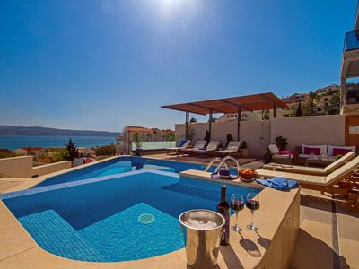 Photo for NEW! Luxury VILLA BANE, heated private pool and jacuzzi, 120m to sandy beach