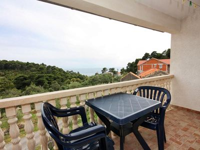 Photo for Studio flat with balcony and sea view Ropa (Mljet)