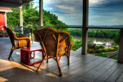 What better place to relax and watch the river flow or a storm blow in?