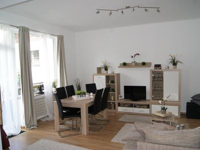 Photo for SeeSicht1 - Beautiful duplex apartment with balcony and lake view 70m from the Rurseeufer