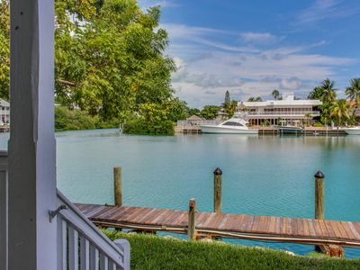 Photo for Lovely bayfront home w/ a balcony and views overlooking Lake Lucille