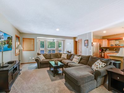 Photo for Riverfront townhome w/ shared pool & tennis courts - close to ski resort!