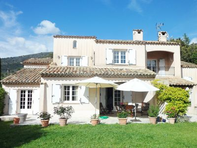 Photo for French Riviera: Provencal villa with swimming pool near Monaco and Nice
