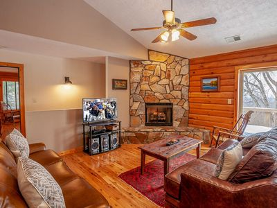 Photo for 3BR/3.5BA Authentic Mountain Home with Huge Views, Jetted Tub in Master Suite, Den & Game Room, Attached Garage, Near Skiing!