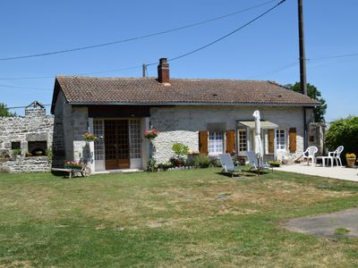 Photo for Stone built cottage/gite ideal for couples, househunters, relaxing holidays