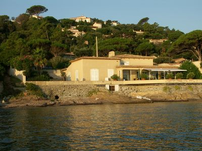 Lovely view of villa from the sea