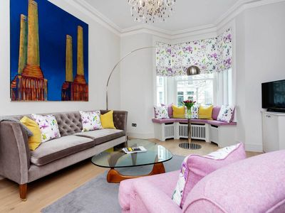 Photo for Walk to South Kensington Museums! 2 bed apartment in Chelsea (Veeve)