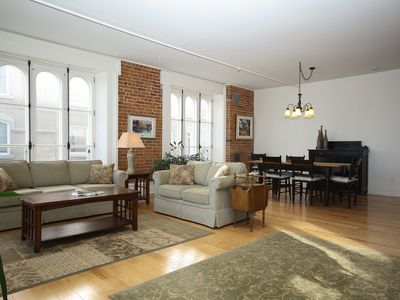 Photo for Enormous Riverfront 2-Bedroom Condo in Heart of Old Quebec