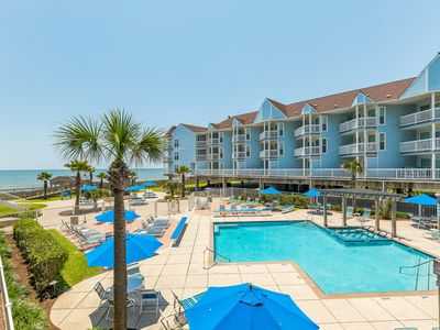 Photo for Oceanfront condo w/shared pool, community hot tub & sweeping views