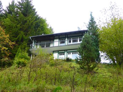 Photo for Holiday house with sauna in forest location - gorgeous unobstructed views of the mountains