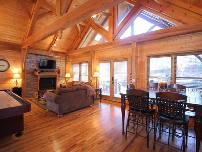 Photo for Stunning! Luxury Timber Frame cabin in the heart of Wears Valley