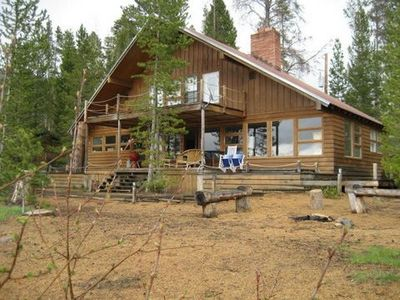 Photo for Grand Lake Lakefront Cabin-Private Beach, Pet & Kid Friendly!