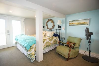 Spacious master with bath and private patio exit