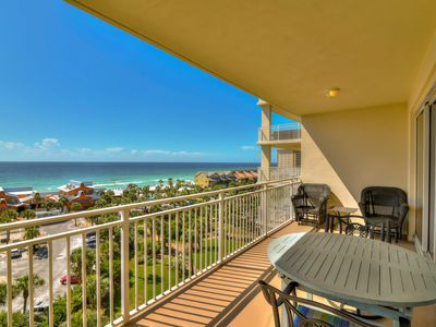 Photo for Bright space with water views & private balcony - pool, gym & beach!