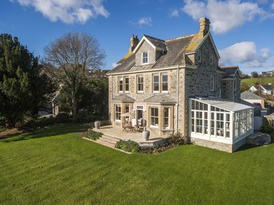 Photo for The Old Vicarage, Feock Cornwall. Imposing former vicarage with beautiful views