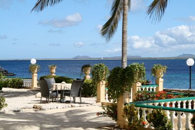 Wonderful view on Little Bonaire from our terrace!