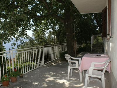 Photo for Two bedroom apartment with terrace and sea view Marušići (Omiš) (A-1043-a)