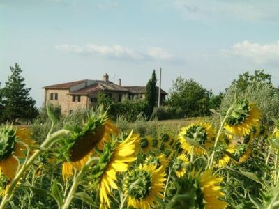 Photo for Giallo apartment - 1 km from San Gimignano with pool and Wi-Fi