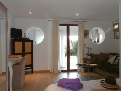 Photo for Great new studio apartment, in a quiet area, 5 min from the Palombaggia beaches