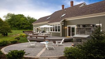 Waterfront property w. stunning views, designer-renovated 1884 cape on 15 acres