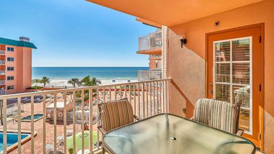 Photo for Sunsets w/ Spectacular Beach and Gulf Views, Renovated Unit, Heated Pool, New BBQs, Free Wifi & Long Distance CANADA/USA
