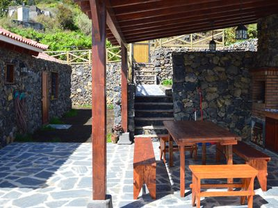 Photo for Country house with 3 bedrooms., Living room. With fireplace, gr. BBQ area + terrace, internet