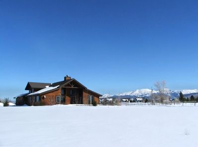 Large private home on 1.4 acres with NE. view to Grand Targhee Resort ski area