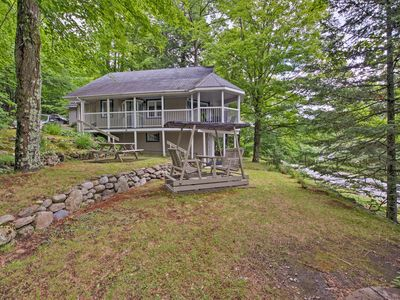 Photo for NEW! Magog Lakefront Cottage w/ Wraparound Deck!
