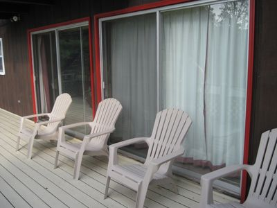 Perfect for relaxing on the deck. The view is perfection.