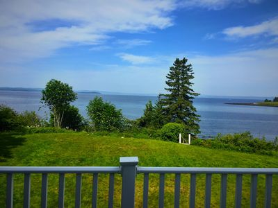 Front deck to Penobscot Bay. Ten mile panoramic views, including sunsets.