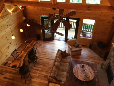 Photo for Lovely Log Cabin-15 Min to Asheville! 20 Min to Biltmore! Local Breweries Abound