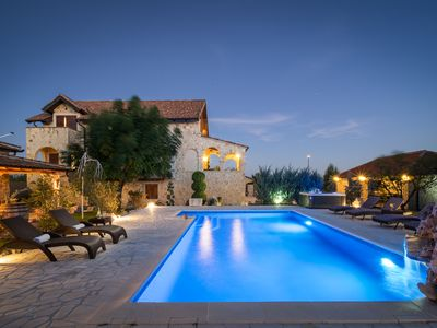 Photo for Beautiful stone villa Olea with private pool, jacuzzi and sauna , near Vodice