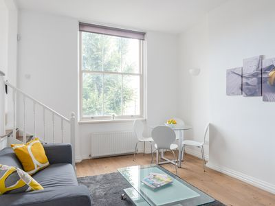 Photo for Bright 2BR flat with terrace near Earls Court st.