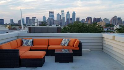 Unwind on our rooftop deck with a gorgeous view of Philadelphia skyline