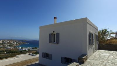 Photo for Beautiful holiday house with great sea view, wifi, 6 pers. | Syros, Kyklades