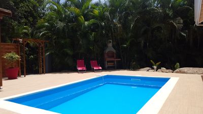 Photo for Private Pool Villa, 4 air-conditioned bedrooms, 8 people, quiet forest, near Malendure