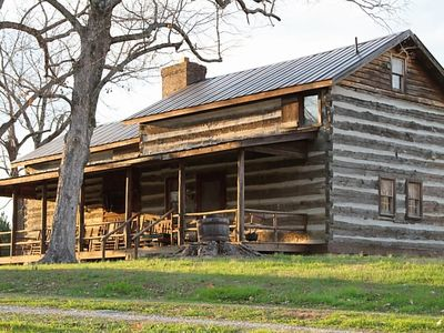 Photo for Historic Log Cabin On 90 Acres for Maximum Relaxation