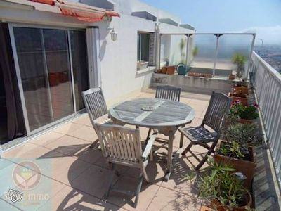 Photo for Panoramic roof terrace sea and hills, 300m from the beaches and harbor