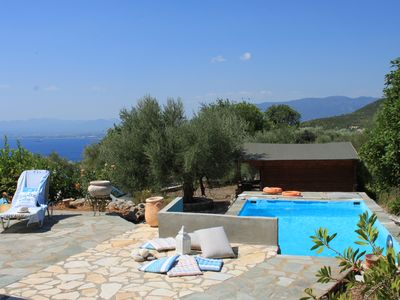 Photo for Avia Villa (Traditional Stone Villa with Pool and Amazing View)