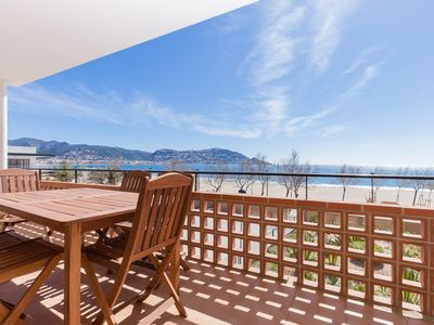Photo for Beautiful apartment completely renovated, in front of the sea with a splendid panoramic vi