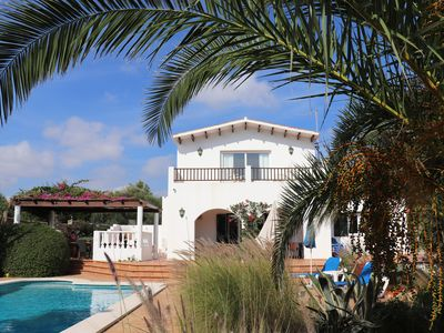 Photo for Luxury Villa with Private Pool set in Mature Gardens in Trebaluger