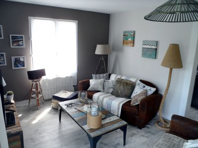 Photo for Portbail, 150 meters from the beach, fully renovated villa