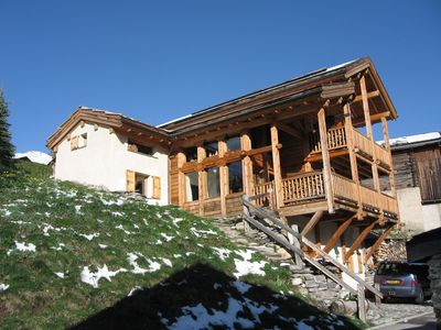 Photo for THE MIELI charming chalet in larch **** with panoramic view for 7 pers