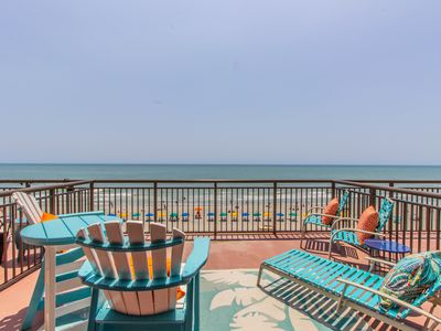 Photo for BEST TIME TO VISIT IS RIGHT NOW!! ENJOY OUR GORGEOUS SUPERSIZE OCEANFRONT PATIO!