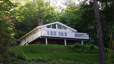Photo for Charming home across from pristine Pleasant Lake, New London